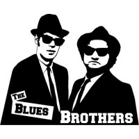 Vinilo The blues brothers-vinilos-decorativos