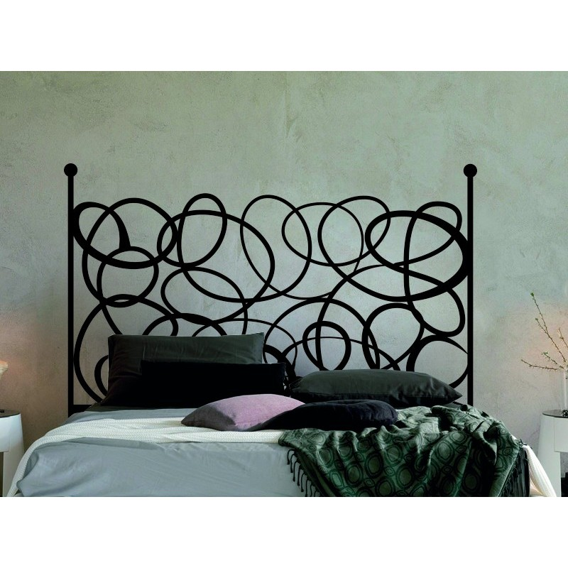 art d co vinyle t te de lit. Black Bedroom Furniture Sets. Home Design Ideas