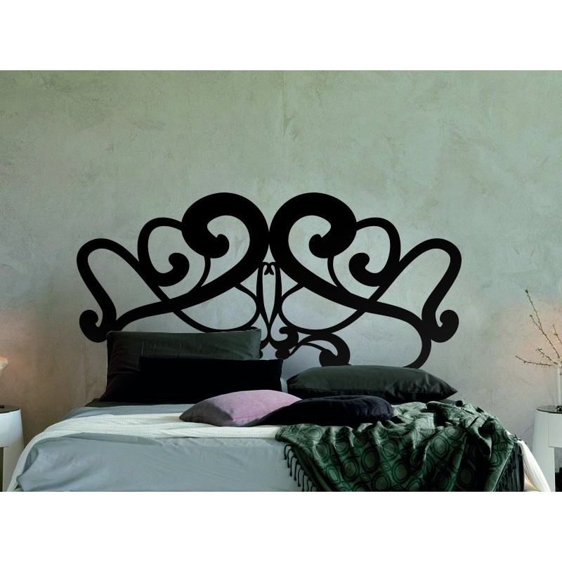 t te de lit de vinyle baroque. Black Bedroom Furniture Sets. Home Design Ideas