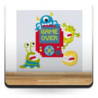 Vinilo Game over monsters-vinilos-decorativos